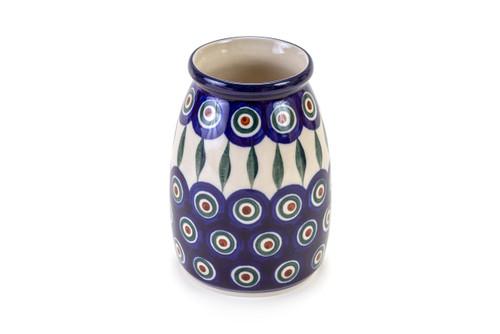 Milk Bottle Vase (Peacock Eyes)