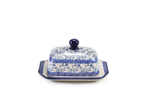 Half Butter Dish (Forget Me Not)