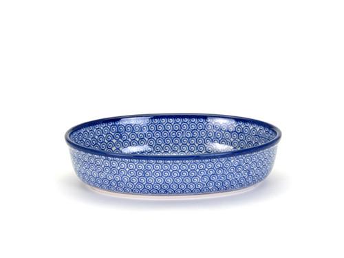 Oval Casserole Dish (small) (Blue Doodle)