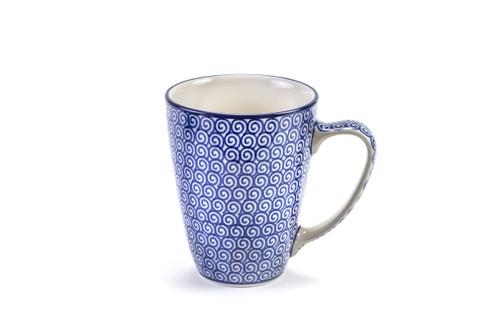 Latte Mug (Blue Doodle)