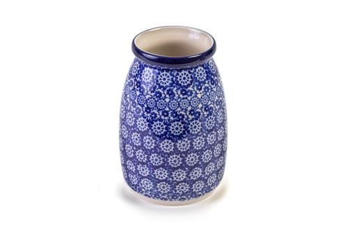 Milk Bottle Vase (Blue Lace)