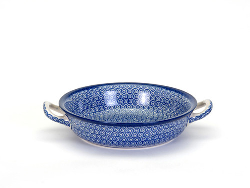 Oven Dish with Handles (small) (Blue Doodle)