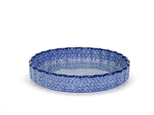 Quiche Dish (large) (Blue Doodle)