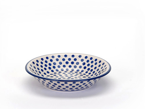 Soup / Pasta Plate (Small Blue Dot)