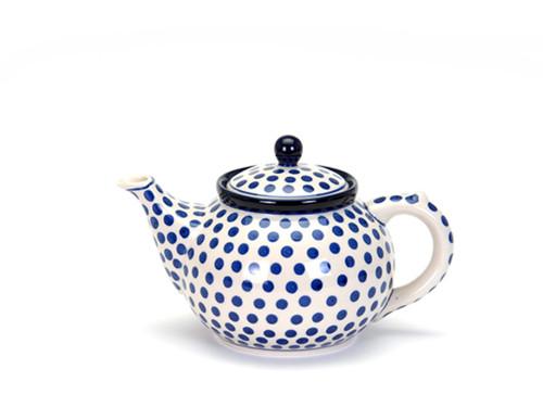 Teapot (1.2 Litres) (Small Blue Dot)