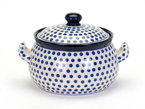 Casserole Dish (large) (Small Blue Dot)