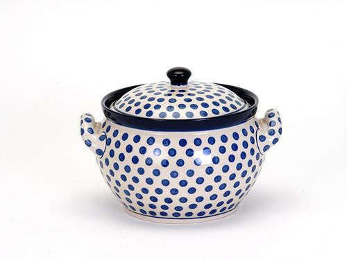 Casserole Dish (small) (Small Blue Dot)