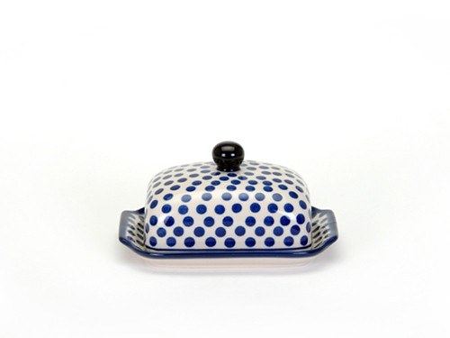 Butter Dish (Small Blue Dot)