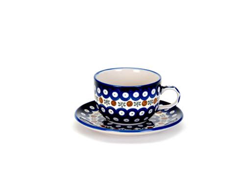 Tea Cup & Saucer (Flower Tendril)