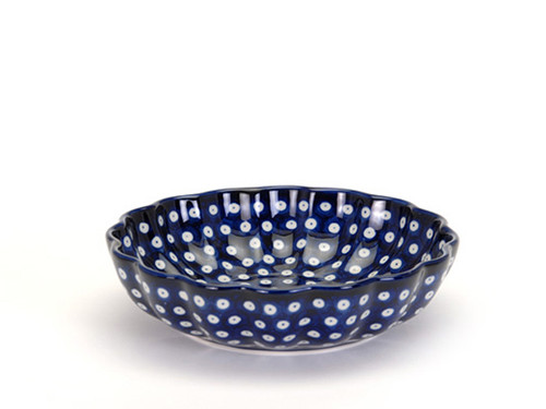 Frilled Dish (large) (Blue Eyes)