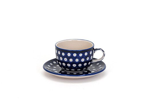 Tea Cup & Saucer (Blue Eyes)