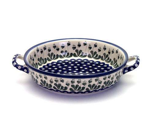 Oven Dish with Handles (large) (Love Leaf)