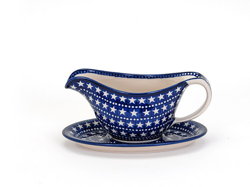 Gravy Boat with Saucer (Midnight Star)