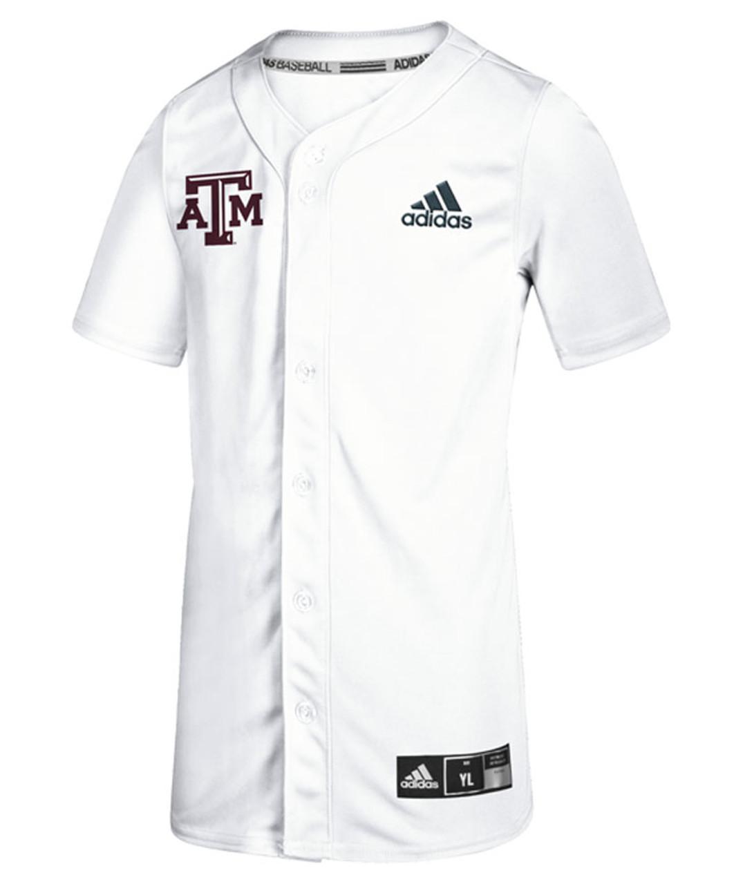 Adidas Youth Diamond King Elite Full Button Baseball Jersey