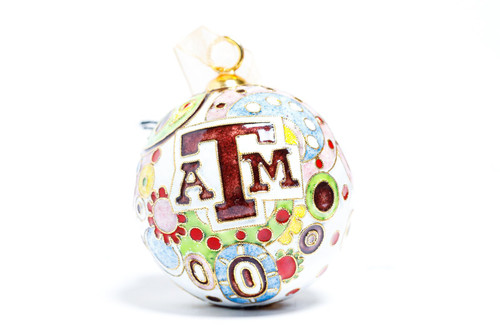 Texas A&M Aggies Kitty Keller Psychedelic Christmas Ornament