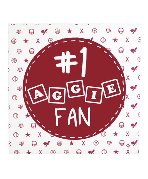 #1 Aggie Fan Canvas