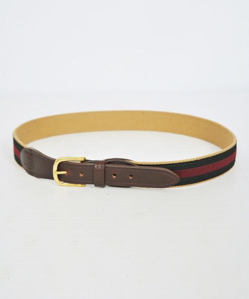 Canvas Ribbon Embossed Belt