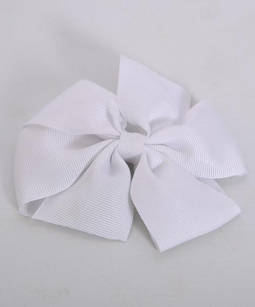 Simple Medium White Bow