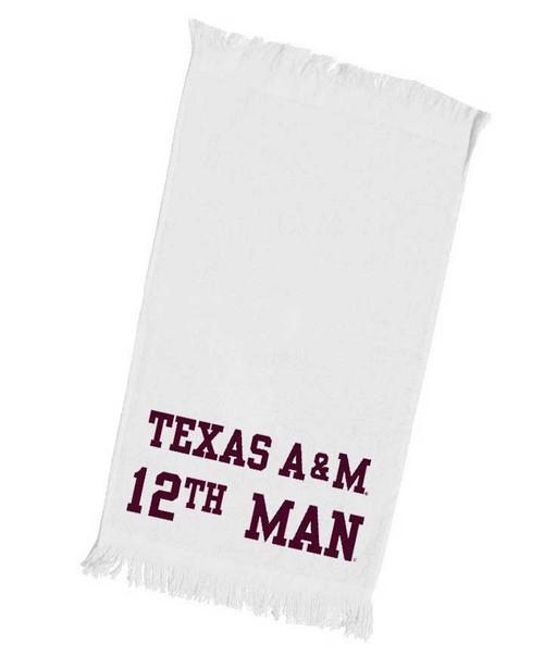 White 12th Man Towel