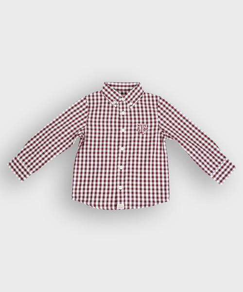 Garb Infant Logan Button Down Gingham Shirt