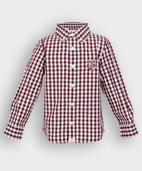 Garb Toddler Logan Button Down Gingham Shirt