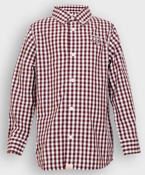 Garb Youth Logan Button Down Gingham Shirt