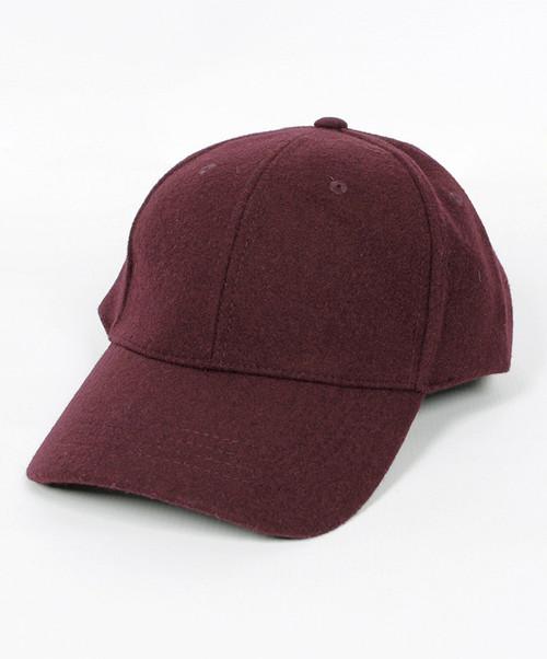 Women's Wine Wool Baseball Cap