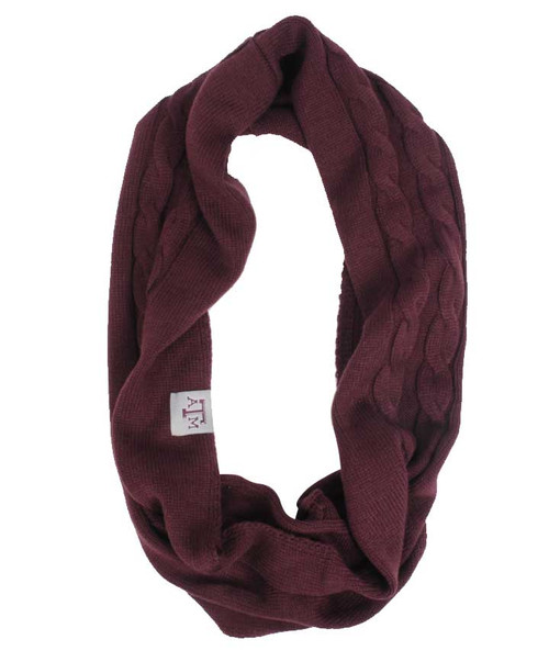 Adidas Woman's Maroon Thick Infinity Scarf