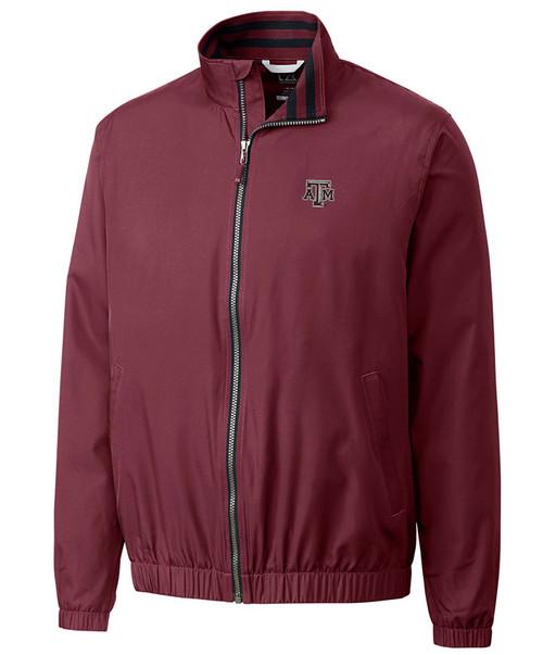 Cutter & Buck Men's Maroon Nine Iron Full Zip Jacket