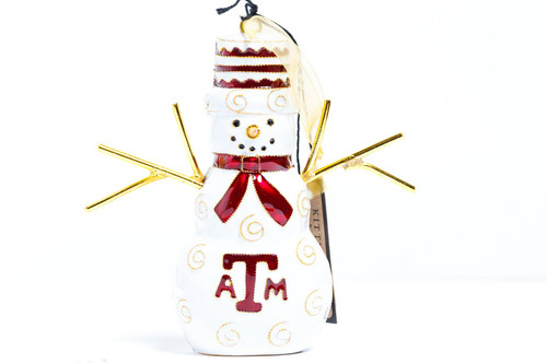 Kitty Keller Stick Snowman Christmas Ornament