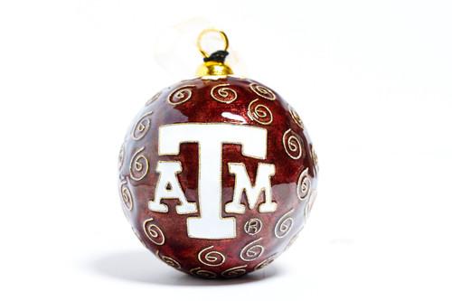 Kitty Keller Branded Texas Boot Christmas Ornament
