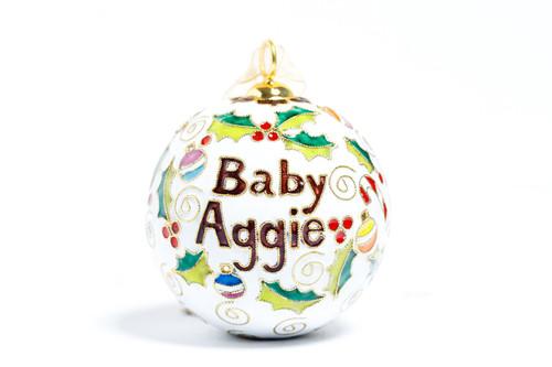 Kitty Keller White Baby Aggie Christmas Ornament