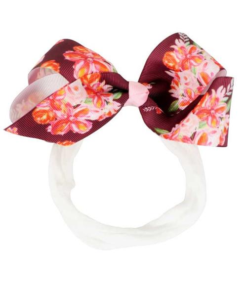Azarhia Maroon Boquet Baby Headband