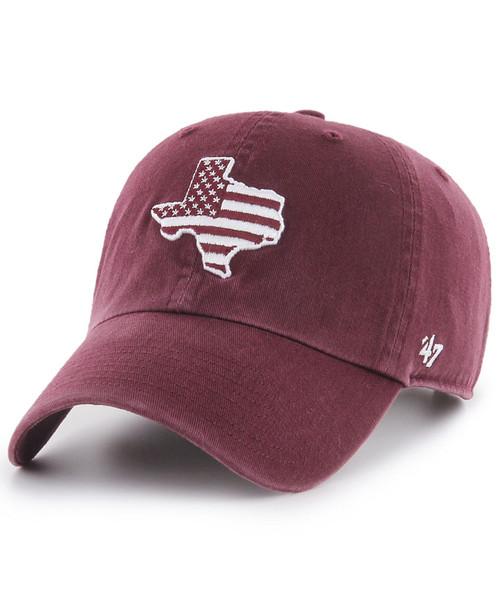 '47 Brand Men's Maroon Operation Hat Trick Texas Clean Up Cap