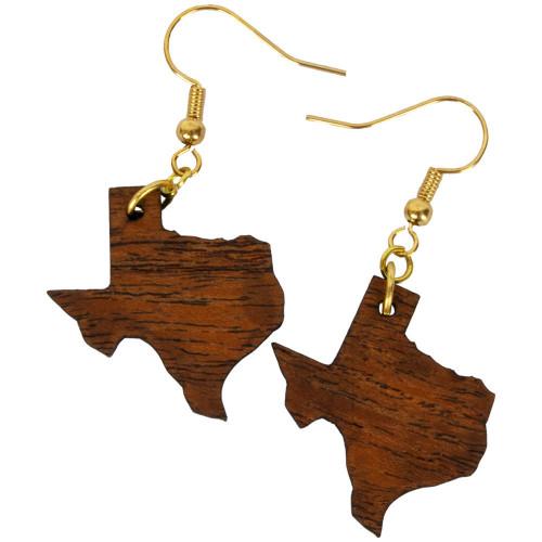 Uniquely Mesquite Women's Handmade Mesquite Wood Texas Earrings