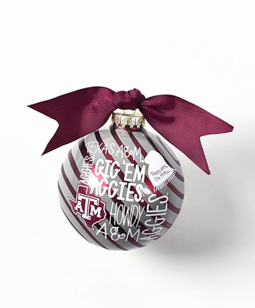 Coton Colors Glass Word Collage Christmas Ornament