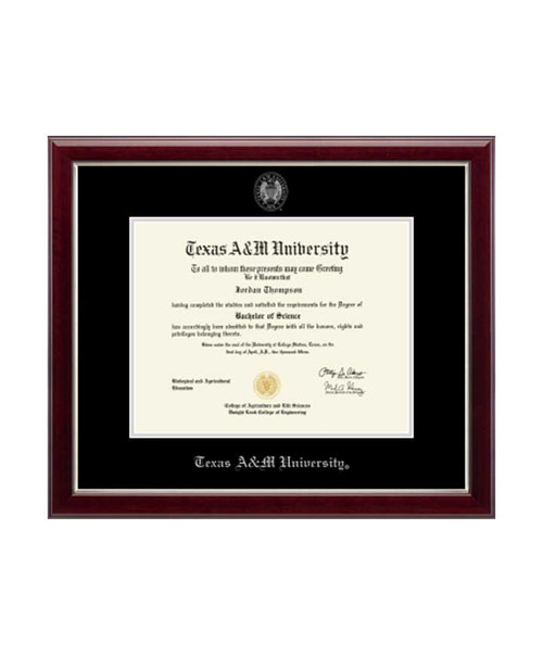Church Hill Classics Black & Silver Gallery Diploma Frame