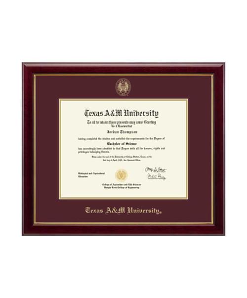 Church Hill Classics Maroon & Gold Gallery Diploma Frame
