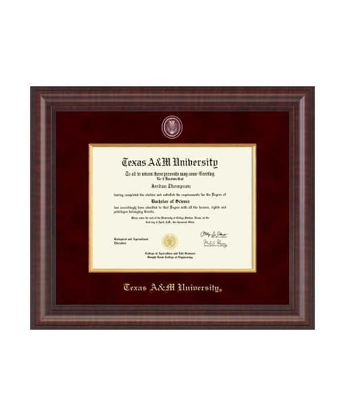 Church Hill Classics Maroon & Gold Presidential Masterpiece Premier Diploma Frame