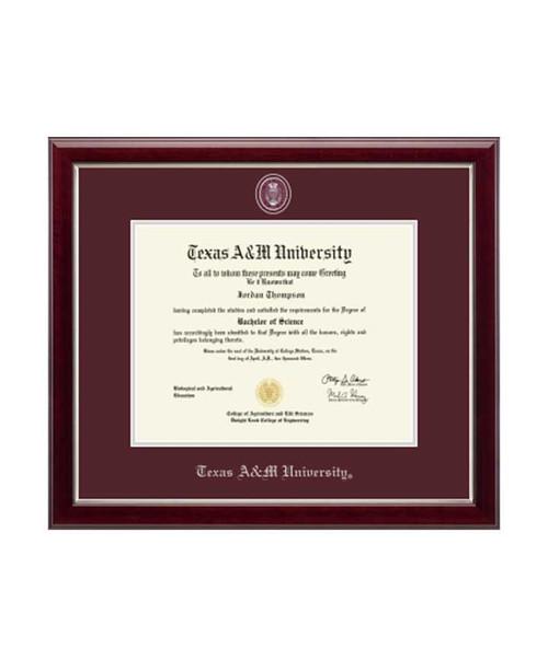 Church Hill Classics Maroon & Silver Masterpiece Medallion Gallery Diploma Frame