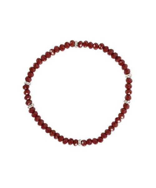 Maroon Crystal Stretch Bracelet