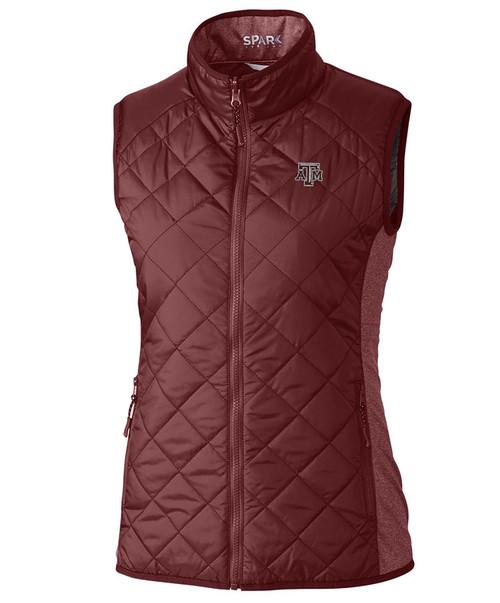 Cutter & Buck Women's Maroon Lightweight Sandpoint Quilted Vest