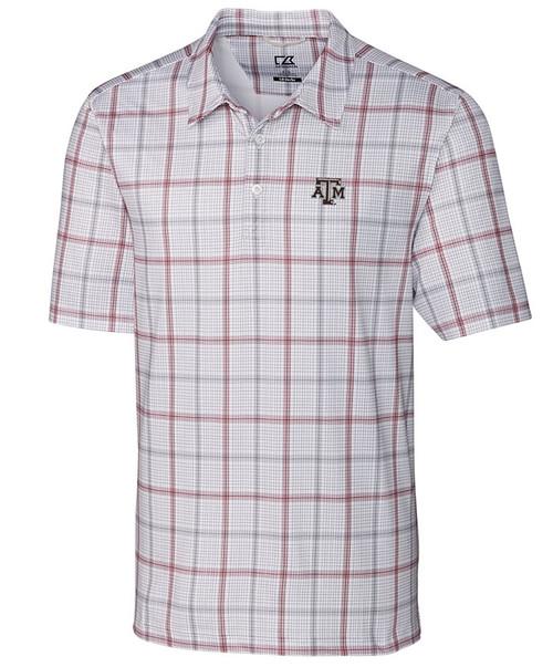 Cutter & Buck Men's Drytec Gordon Plaid Print Short Sleeve Polo