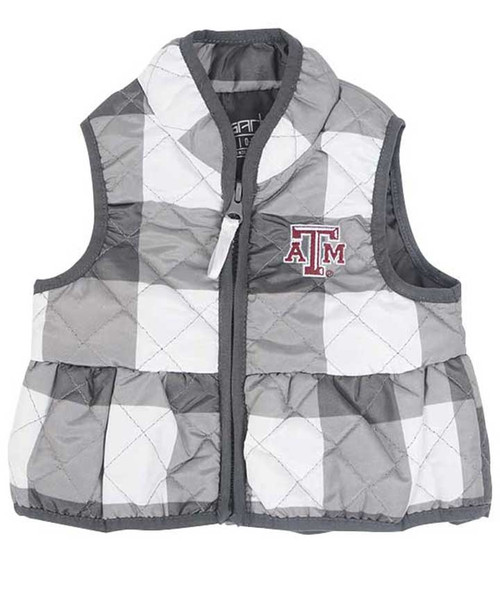 Garb Youth Wendy Quilted Gingham Vest