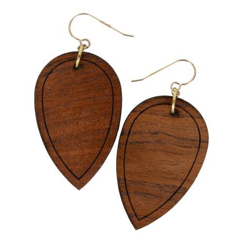 Uniqely Mesquite Womens Handmade Mesquite Wood Drop Earrings