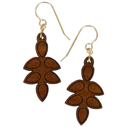 Uniquely Mesquite Womens Handmade Mesquite Wood Seed Pod Earrings