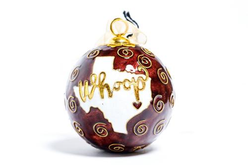 Texas A&M Aggies Kitty Keller Maroon Whoop Christmas Ornament