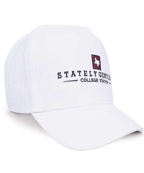 Stately Gentlemen Men's White Tour of Texas Trucker Hat