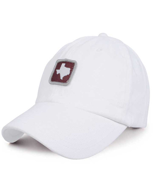 Stately Gentlemen Men's White Tour of Texas State of Mind Patch Dad Hat