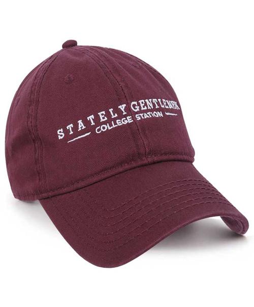 Stately Gentlemen Men's Maroon Tour of Texas Dad Hat